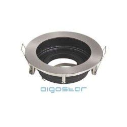 Aigostar LED spot lámpa beépítő keret kerek TS71 INOX GU10 és MR16-os LED izzókhoz