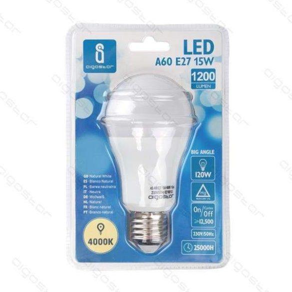 Aigostar LED izzó A60 gömb 15W E27 Természeres fehér