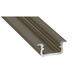 Led profil led szalagokhoz Beépíthető bronz 1 méteres alumínium