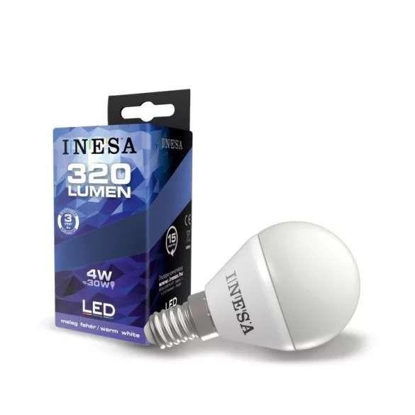 INESA E14 4W 160° LED gömb izzó 3000K G2  320Lm