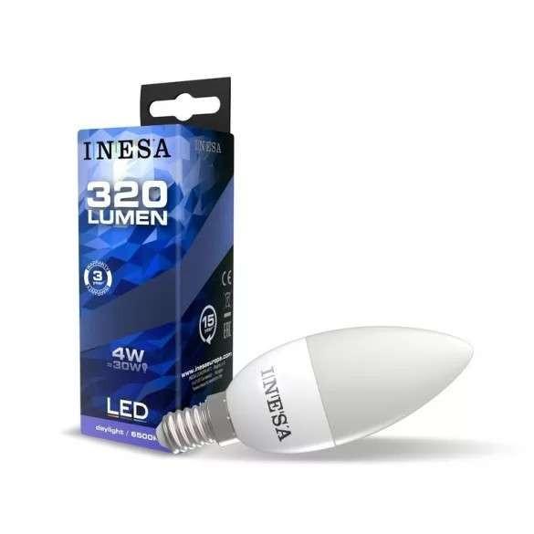 INESA E14 4W 160° LED gyertya izzó 6500K G3  320Lm