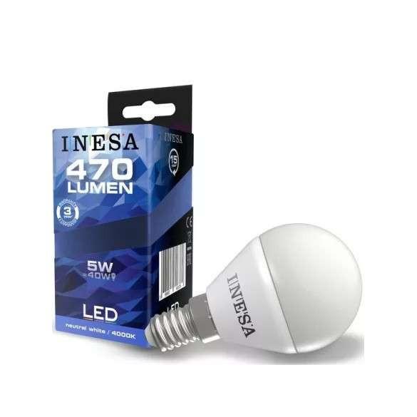LED izzó E14 5W 160° LED gömb izzó 4000K G3 470Lm 10db-os csomag