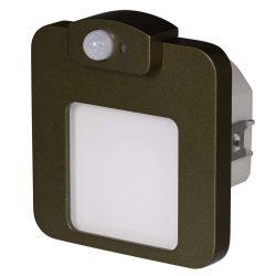 Zamel LEDES Beltéri Lépcső és Oldalfali lámpa Beépíthető MOZA 14V Bronz keret Meleg fehér Beépített érzékelővel