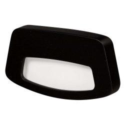 Zamel LEDES Beltéri Lépcső és Oldalfali lámpa TERA 14V Fekete keret Meleg fehér