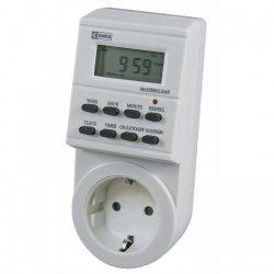 Digitális időkapcsoló, 8 program, napi 8 kapcsolás, 16A MAX, 230V