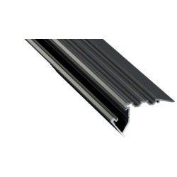 Led Alumínium Lépcső Profil SCALA 1 méter Fekete