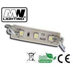Led modul, 12V, 0,72W, IP67, piros szín, 3x2835 led, 3 év garancia.