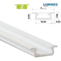 Led profil led szalagokhoz Beépíthető fehér 2 méteres alumínium